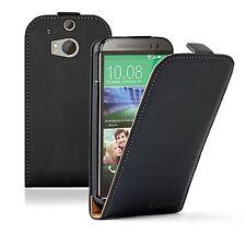 Ultra Slim Schwarz Leder Schutzhülle für HTC One M8-Handy Zubehör