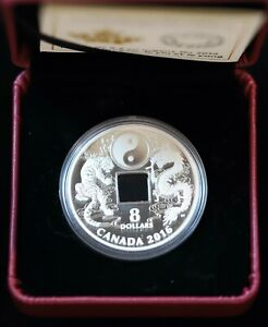 2016 $8 Fine Silver Coin Tiger and Dragon Yin and Yang with COA