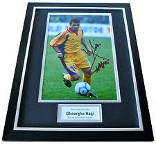 Gheorghe Hagi Signed FRAMED Photo Autograph Display Romania Football & COA