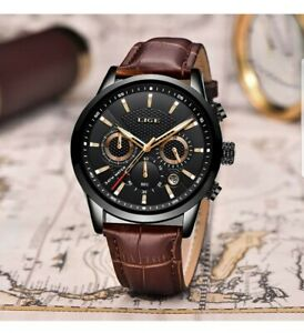 Watches Waterproof Sports Chronograph Analogue Quartz Stainless Steel