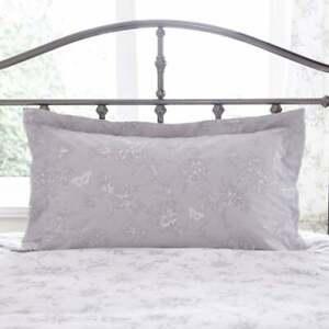 Charlotte Thomas Sheridan Grey Floral Oxford Pillowcase in Grey