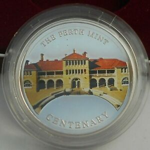 THE PERTH MINT Centenary one ounce SILVER MEDALLION in case with certificate
