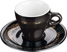 Poccino OPUS ONE Tazza da caffè espresso Nero con sotto piatto-CAFFE MILANO