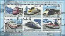 Timbres Trains Mozambique 2614/9 o année 2009 lot 17534 - cote : 19,80 euros