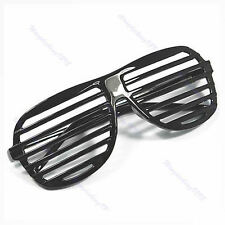 1PC Full Shutter Glasses Shades Sunglasses Club Party New Black