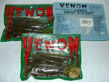 Venom Lures: Hot Rods - 4 inch - Color: Green Pumpkin - 3 packs