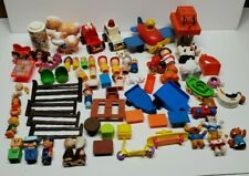 Huge Lot Of Vintage Parts Pieces And Accessories For Toys Fisher Price Playskool