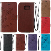 Slim Leather Flip Wallet Card Case Stand Cover For Samsung Galaxy J7 2015 / 2016