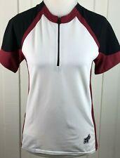 Fox Racing Cycling Jersey Shirt Top 1/2 Zip Short Sleeve White Women's Size L