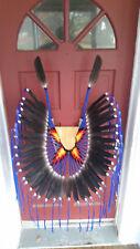 Native American Style, Bustle, Regalia, Pow-Wow, blue w sunburst