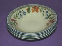 Staffordshire Tableware Calypso Cereal / Soup Bowls SET OF 4 Unused 1st Qual.