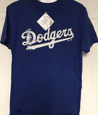 MAJESTIC MLB LOS ANGELES DODGERS BLUE T-SHIRT MENS S, NWT!!