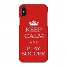 AMZER Keep Calm Play Soccer Red Plastic Printed Designer Slim Snap On Hard Case