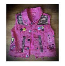 Handmade, Disney, Pink Jean Vest For Kids.