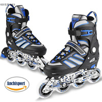 Adjustable Inline Skates Roller Blades Adult Size 8-10.5 Breathable Adult or Kid