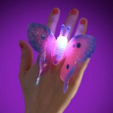 SPARKLY & FLASHING BUTTERFLY RING PRINCESS TOY GIRLS BIRTHDAY PARTY BAG FILLER