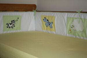 NEW baby cotbed / cot BUMPER (nursery bedding) farm animals design unisex