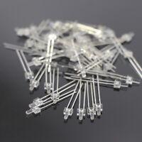 LED2WM 100pcs Water Clear Miniatronics 2.0mm Led Warm White & Free Resistors