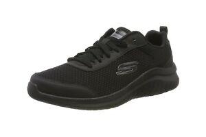 Skechers Ultra Flex 2.0 Litewilde Men Shoes Mesh Black Lite Weight Memory Foam