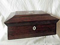 A 19th Century Rosewood Sargcophagus shape Work Box