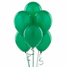 100 Dark Green Pearlised Latex Balloons Birthday Anniversary Party Decorations