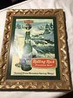 Vintage Rolling Rock Sign 1970's Premium Beer Plastic Mountain Spring Water