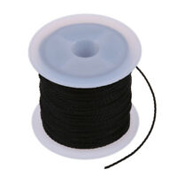 5X(Roll Black Waxed Cotton Necklace Beads Cord String 1mm HOT S*