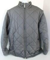 Men's Nike Air Jordan Puffer Convertible Jacket Vest Size XXLT 2XL Tall Gray
