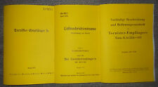Dienstvorschrift Tornister-Empfänger b 1939/40  & Tornisterempfänger E.b/24b-305