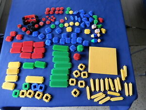 Vintage Stickle Bricks 137 Pieces Inc.  2  Axels 2 Men 2 Heads No Box or Tub