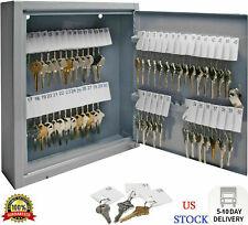 60 Key Storage Safe Cabinet Lock Box Wall Mount Holder Organizer Rack Security