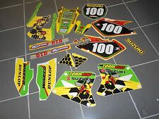 2001-2007 SUZUKI RM125 RM250 2 STROKE GRAPHICS KIT SHOEI RENTHAL GRAPHIC KIT