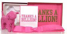 Victoria's Secret Mini Pink Dog Thanks A Billion Faux Leather Gift Box Rare