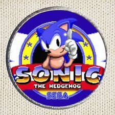 Sonic The Hedgehog Patch Picture Embroidered Sega Genesis Tails Knuckles Eggman