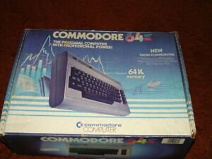 Commodore 64 Computer With Box , Manual & other vintage papers