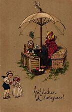 Ostern, Huhn mit Verkaufsstand, Kinder, 1927