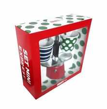 Bialetti - Mini Express Espresso Maker 2 Cup Red & 2 Bicchierini Pop Coffee Cups