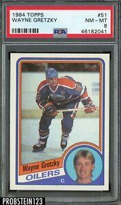 1984 Topps Hockey #51 Wayne Gretzky Edmonton Oilers HOF PSA 8 NM-MT