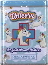 Unicorn Magical Wound Healers Deluxe First Aid Bandages Ouch! (TM) 2 Tins