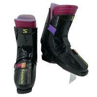 Salomon 72 Ski Boots Womens Size 330-345 Black/Purple Downhill Racing US 9 *READ