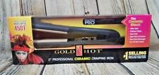 """2"""" Hair Crimping Iron Gold N' Hot Professional GH3013 450 Degrees NEW IN BOX"""