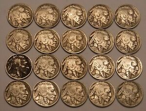 1913 TYPE 1 BUFFALO NO DATE NICKEL LOT 40 PIECE = One Roll ID# MT524