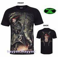 New Men Gothic  T-shirt (ROCK STAR) Glow In Dark Both Side Print
