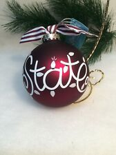 Mississippi State Bulldogs Resin Lil Fan Team Player Football Ornament