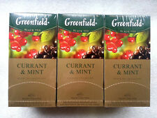 Tea black Greenfield Currant & Mint 25 bags x 3 box