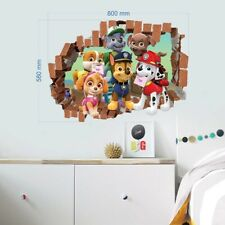 Paw Patrol Wall Sticker 3D Boys Girls Nursery Room Decoration Vinyl Wall Decal