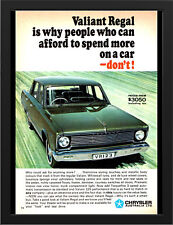 "1968 VE CHRYSLER VALIANT COTY AD A1 CANVAS PRINT POSTER FRAMED 33.1""x23.4"""