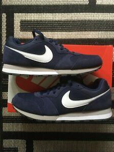 Nike MD Runner 2 Sneaker Gr. 44,5 US 10,5 Blau/Weiß, Neu und ungetragen