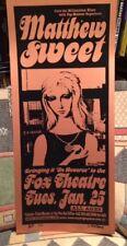 MATTHEW SWEET – Fox Theater BOULDER, CO – Jan. 25th 2000 - 1/4 AP  Rare  POSTER