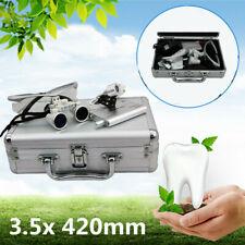 35x Dental Surgical Binocular Loupes And Portable Led Headlight With Aluminum Box